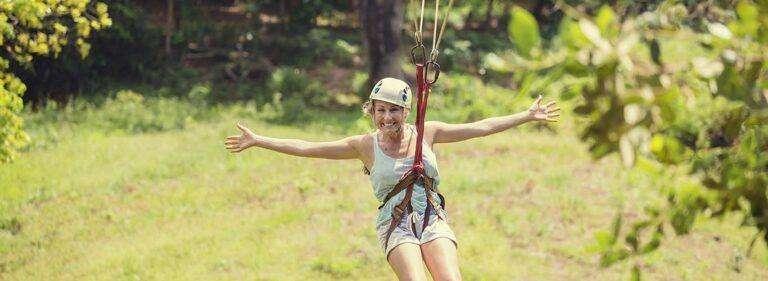 dame skov klatring zip line