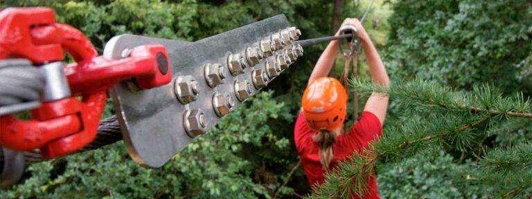 Sikkert udstyr i klatreparken
