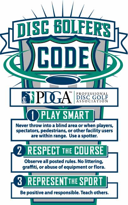 God opførsel på disc golf banen