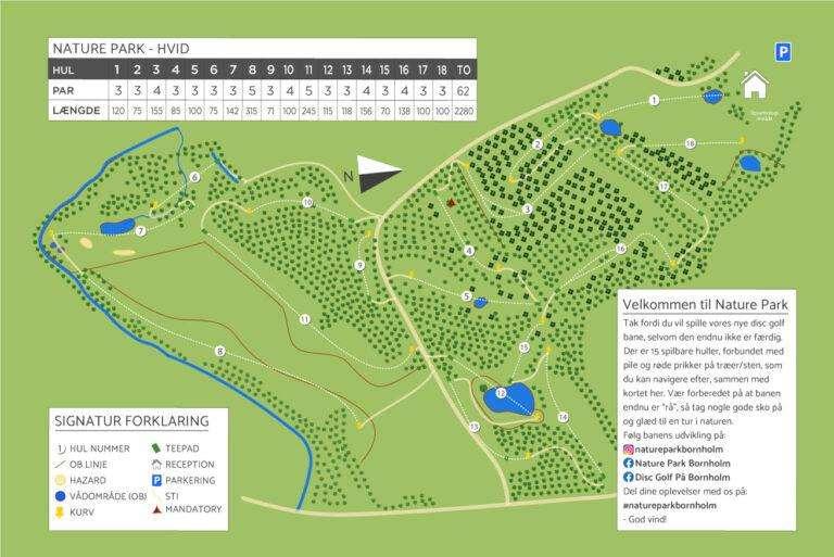 Nature Park Hvid disv golf bane - oversigtskort
