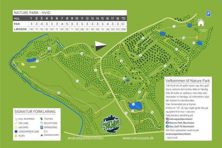 Nature-Park-Hvid-Disc-Golf-Bane-Oversigtskort-V7